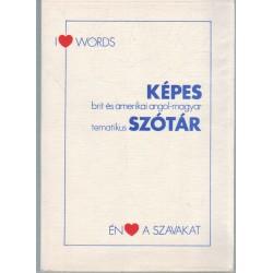 Képes brit és amerikai angol-magyar tematikus szótár