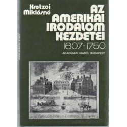 Az amerikai irodalom kezdetei 1607-1750