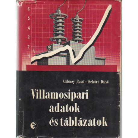 Villamosipari adatok és táblázatok