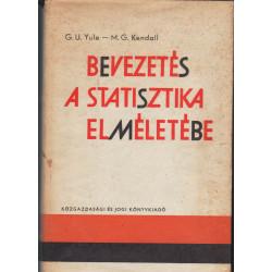 Bevezetés a statisztika elméletébe